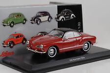 1955 Volkswagen VW Karmann Ghia rot schwarz 1:32 Schuco Spur 1 diecast