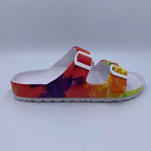 MIA tie dye slip on sandals Arizona