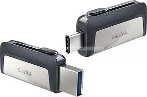 SanDisk Ultra Dual USB de 128 GB tipo C 150 MB / seg USB Flash Drive Nueva ct ES
