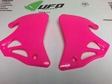 Honda CR125 CR 250 Pink Radiator rad shrouds plastic UFO 1995 1996 1997 NOS