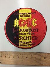 AC/DC Patch Werchter 2016 Aufnäher Selten   Gestickt   Ungebraucht