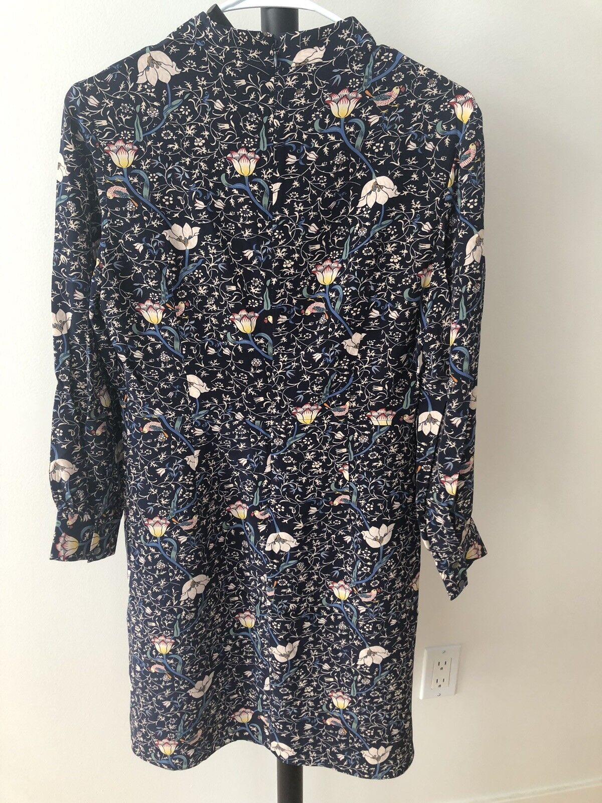 Floral Silk Dress Größe 2-4