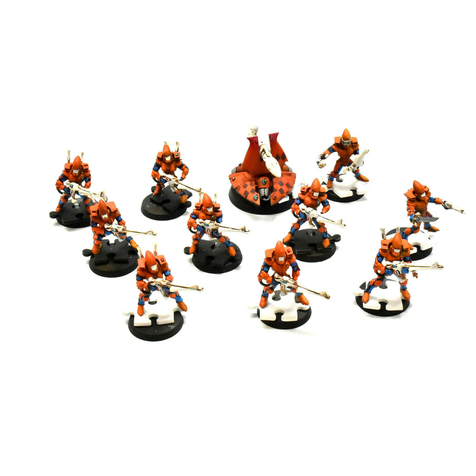 HARLEQUINS 10 guardian   squad heavy weapon platform  1 WELL PAINTED 40K ELDAR