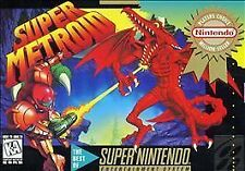 SNES Super Metroid Complete in SEALED Box