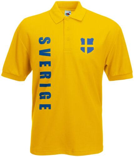 WM 2018 Schweden SVERIGE  Polo-Shirt Trikot Name Nummer