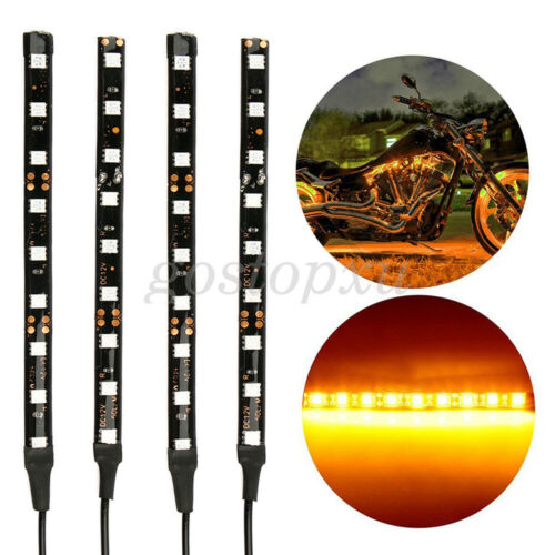 """4x 5.5/"""" Motorcycle Flexible Strip Blinker Flasher Tailorable Turn Signal 9 LED"""