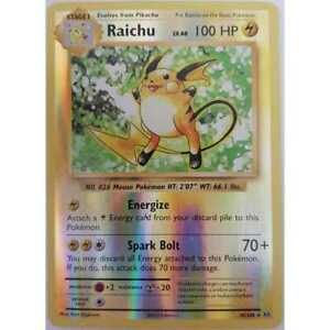 Pokemon-Raichu-36-108-xy12-evolutions-reverse-rare-Holo-ingles-nm