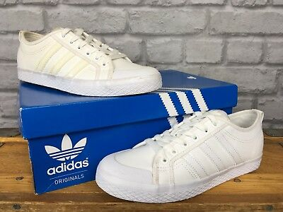 super populaire 056d8 636a0 ADIDAS LADIES WHITE SYNTHETIC LEATHER HONEY LO TRAINERS SATIN VARIOUS SIZES  | eBay