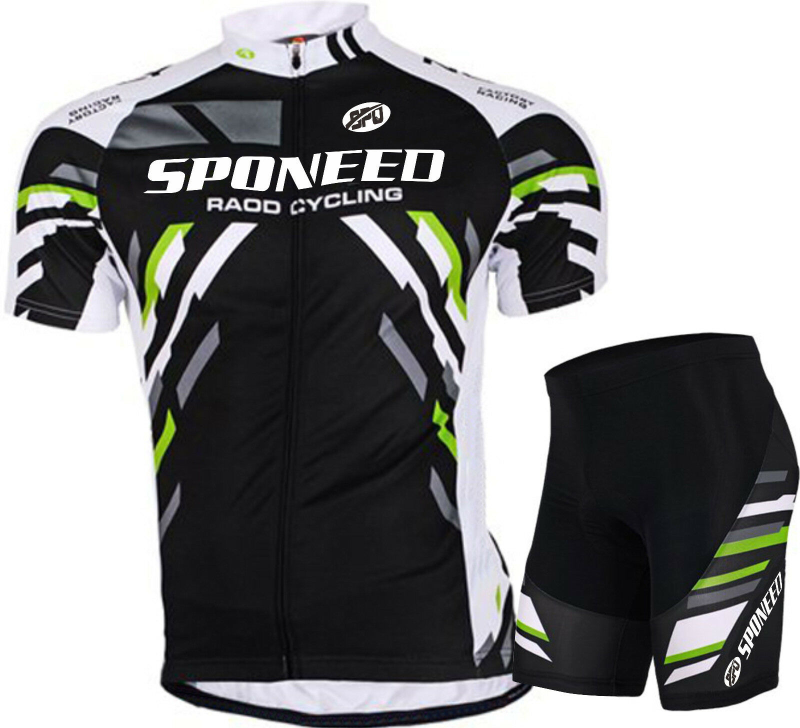 New Mens  Spin Bike Shirts Pad Bicycle Shorts Breathable Cycle Clothes Kits M-3XL  sale outlet