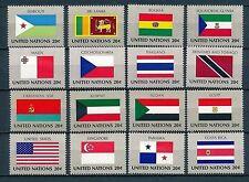 UNO New York 16 Flaggen der VN 1981  postfrisch komplett 366 - 390