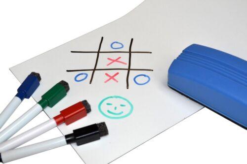 Magnetfolie Whiteboardfolie magnetisch weiß beschreibbar 0,6mm x 50cm x  50cm