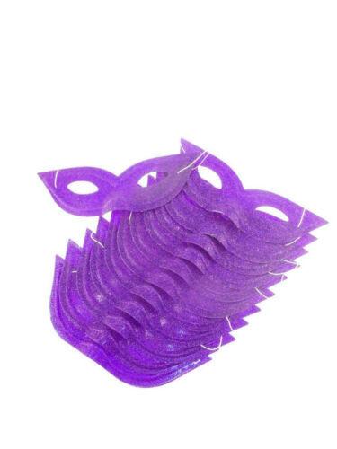 12x Maske Augenmaske Venezia Glitter Violett Fasching Maskenball