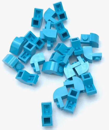 LEGO Bau- & Konstruktionsspielzeug Baukästen & Konstruktion Lego 25 Neu Medium Azurblau Steine Modifiziert 1 X 2 X 1 1/3 mit Gebogen Top