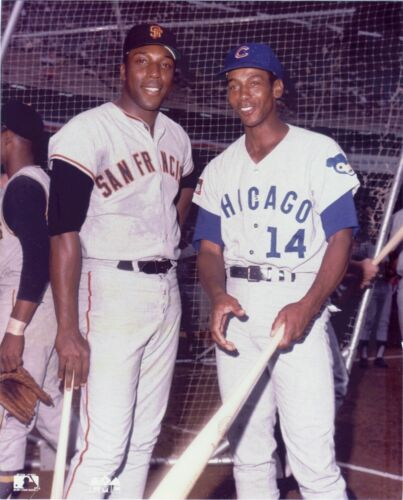 HALL OF FAME GREATS WILLIE MCCOVEY GIANTS AND ERNIE BANKS CUBS 8x10 PHOTO