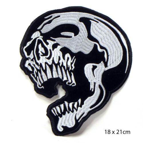 Grande Biker Skull Teschio aufbügler ricamate patch BACK PATCH