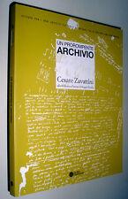 Un prorompente archivio Cesare Zavattini alla Biblioteca Panizzi Reggio Emilia