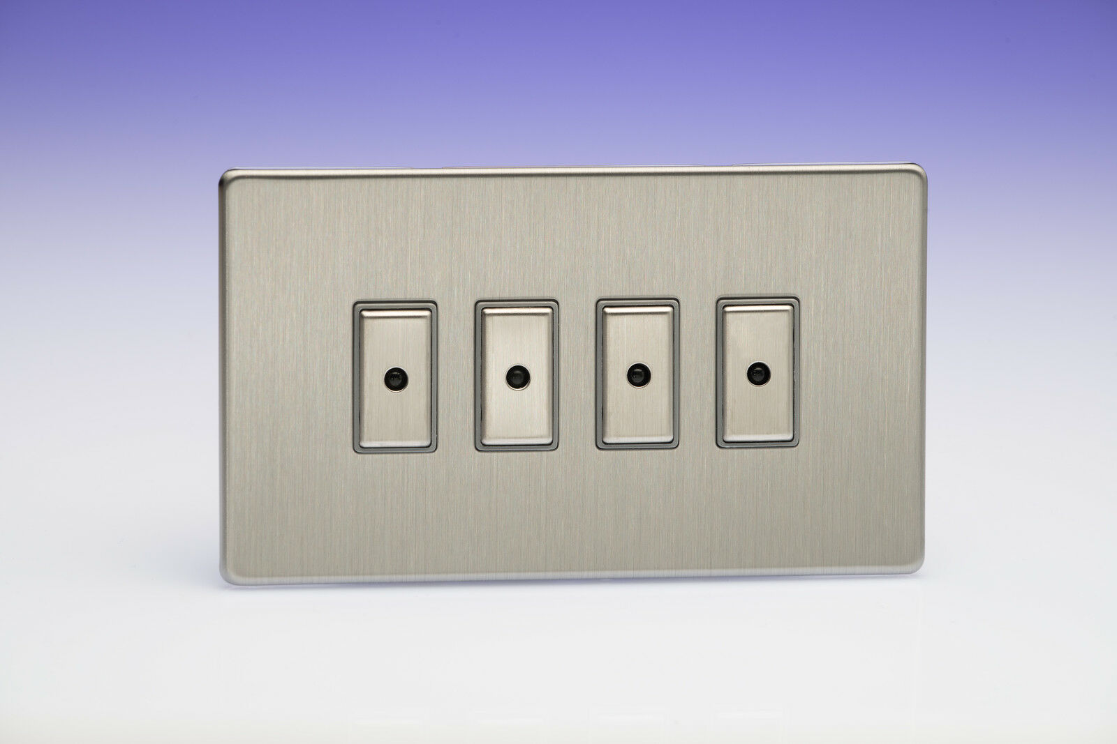 Varilight Eclique 2 4-GANG 1-Way TELECOMANDO TATTILE Touch Control Control Control MASTER LED dimmer a9c648