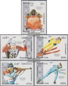 Laos-1251-1255-kompl-Ausg-postfrisch-1991-Olympische-Winterspiele-92