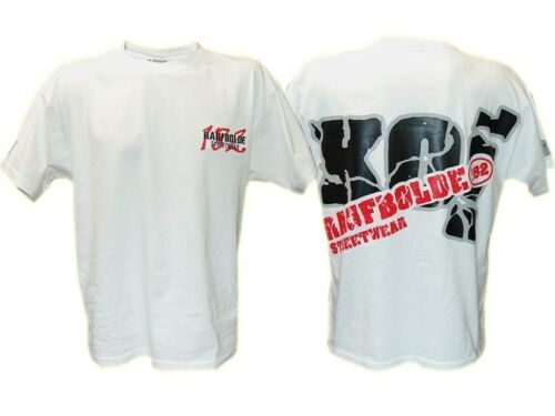 Raufbolde Streetwear T-Shirt Knock Out weiß Sale whiteBodybuilding Fitness