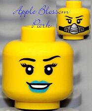 NEW Lego Female MINIFIG HEAD Galaxy Squad Girl w/Blue Lips Silver Breathing Mask