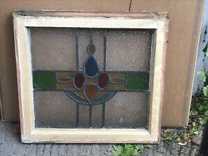 12 Art Deco Stained Glass Window in Wooden Frame Designs Vintage 1920s1930s