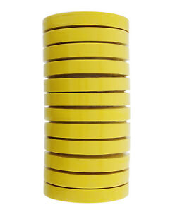 3M 06652 Crepe Paper Automotive Refinish Masking Tape 3/4 Inch 12 Rolls, Yellow