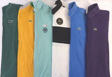 Lacoste Men's Lot of 6 Short/Long Sleeve Polo Shirts EUR 5 Size L [DD16489]