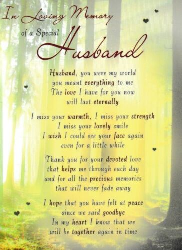 holder birthday father/'s day in memory HUSBAND memorial card graveside cards