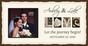... Engraved Wood Photo Frame, White - LOVE - Great Wedding Gift! eBay