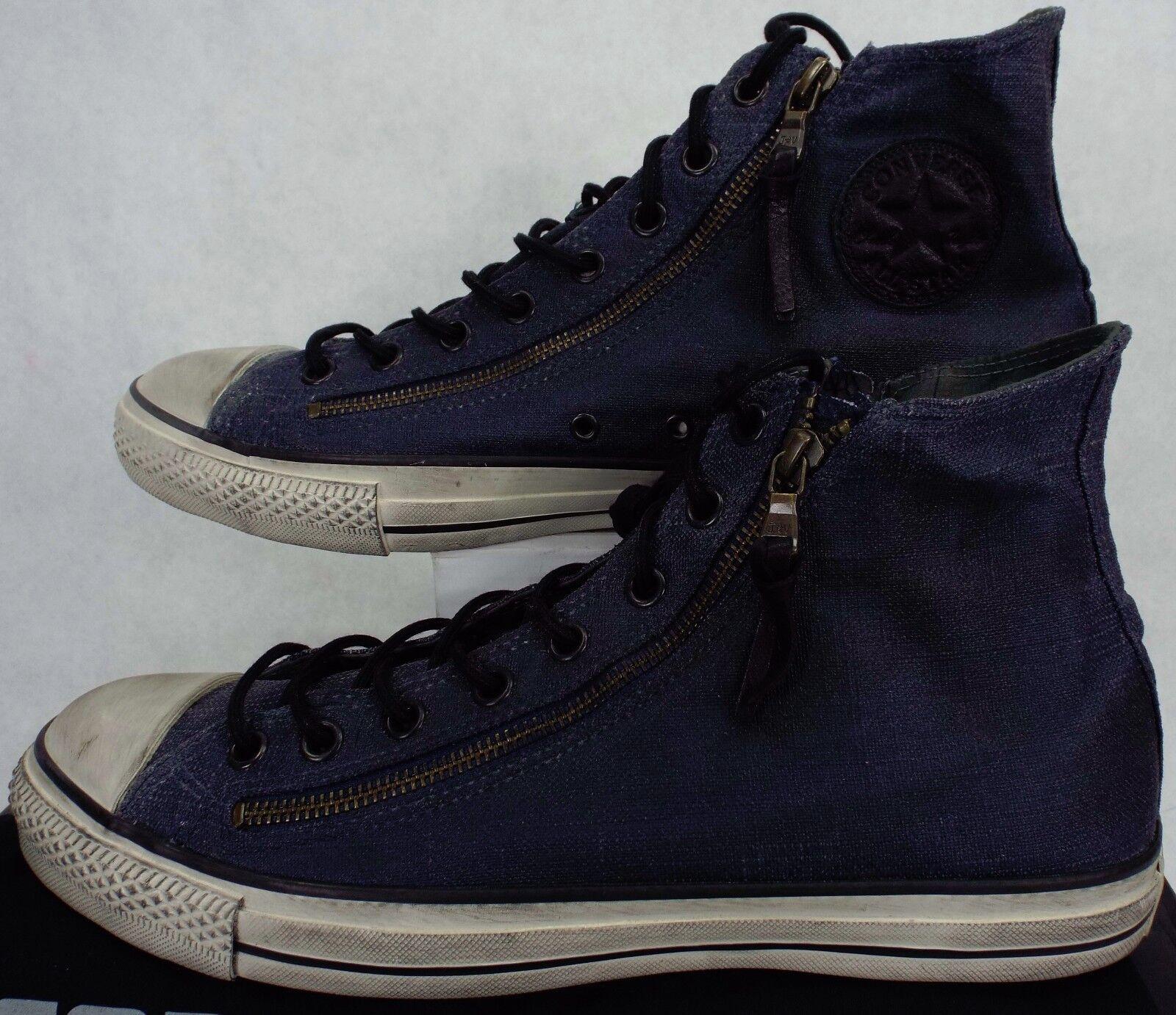 Mens 11.5 CONVERSE John Varvatos CT HI Double Zip Ink Beluga Shoes    150168C