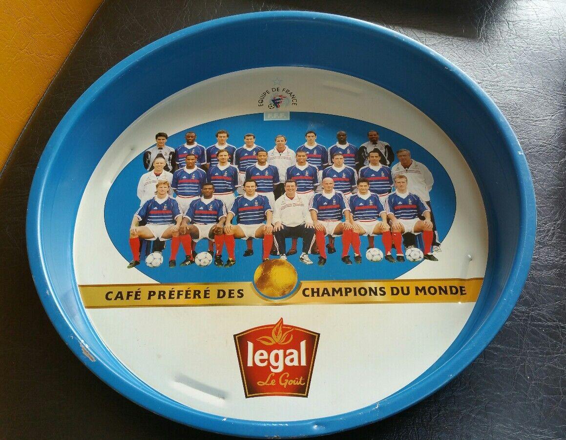 Rare plateau pub vintage café LEGAL football équipe de france Word cup fff 1998