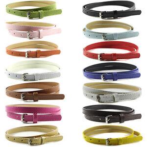 Women-Girls-Leather-Narrow-Bowknot-Waist-Belt-Waistband-Strap