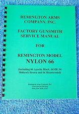 DETAILED GUNSMITH MANUAL FOR REMINGTON semi-automatic .22 Caliber NYLON 66 RIFLE