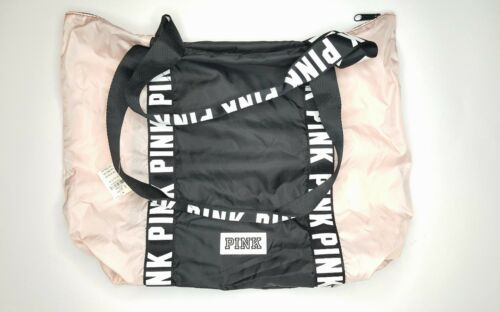 Duffle Negro Logo Victoria's Bag Secret Athletic Gym Pink y Nwt 0wBCSqIB