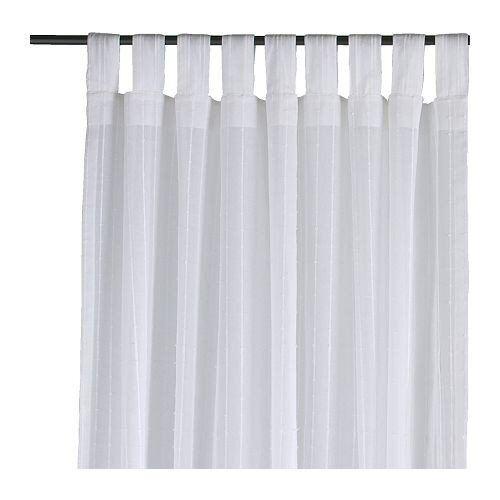 Ikea Matilda Gardinenstorepaar In Weiß 140x300cm Vorhang Vorhänge