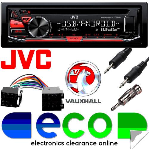 JVC CD MP3 RDS Sintonizador USB AUX estéreo de coche /& Kit Opel Astra G Plata Fascia