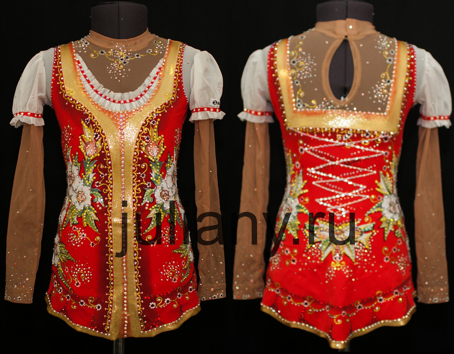 Russian style leotard for rhythmic gymnastics  Kalinka