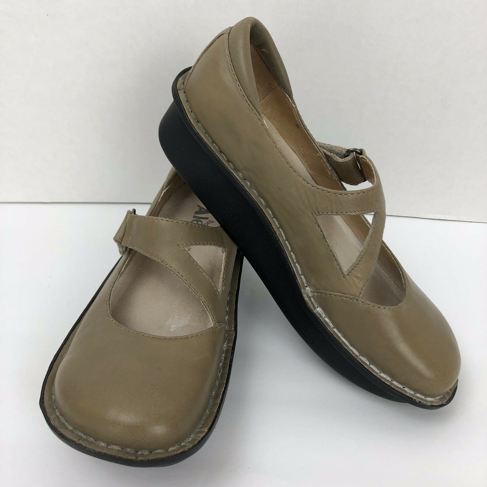 Alegria By Nude PG Lite Tan Beige Nude By Leder Mary Jane Schuhes Sz 5.5 Day-623 7d2bdb