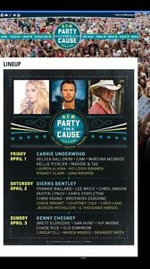American Country Music Party For A Cause 3 Day Festival Pass