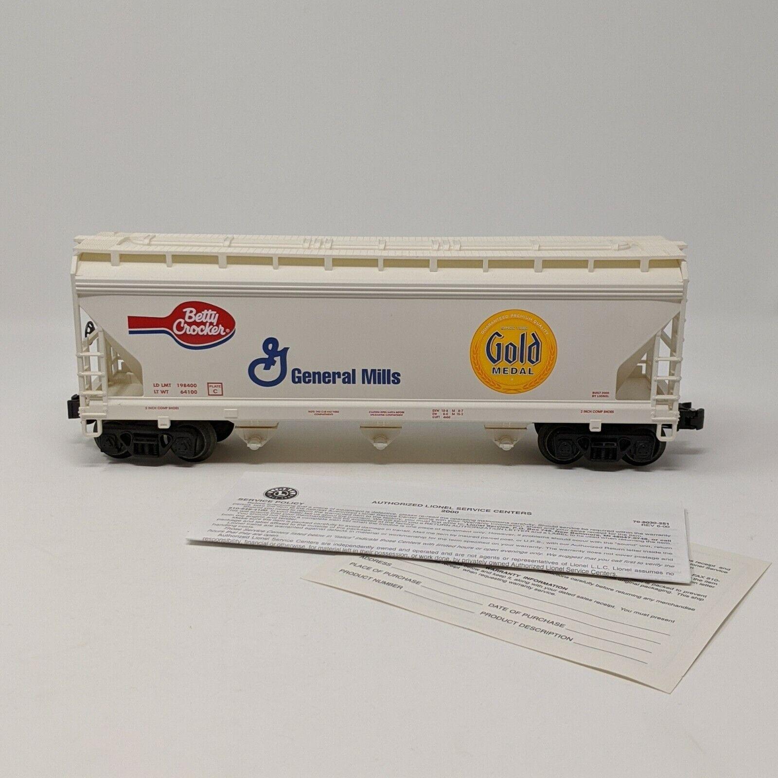 Lionel GENERAL Mills oro Medal Betty Crocker 3B STD o Hopper 617170 Scatola EXC
