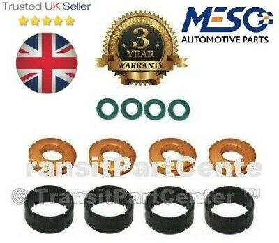 Ford Fiesta 1.4 TDCi Citroen C1 C2 C3 New Manifold Fuel Injector Seal Set 4pcs