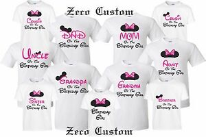 Happy Birthday Girl T Shirt Mickey Birthday Girl Disney Minnie MOM