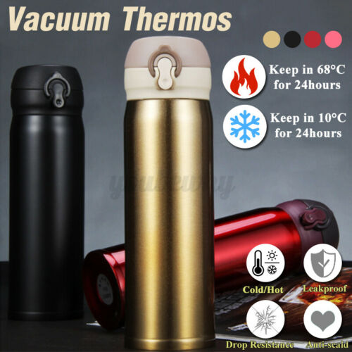 500ml Stainless Steel Vacuum Insulated Water Bottle Double Wall Thermos Flask G