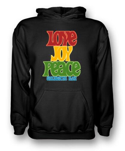 Mens Hoodie Joy Love Peace Galatians 5:22 Cool Religious