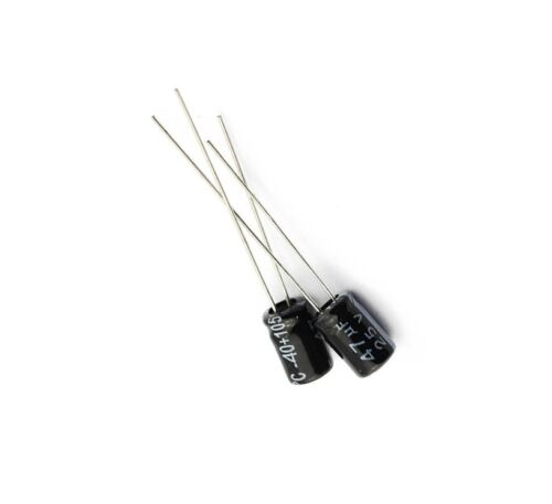 20pcs NEW 47uF 25V 105°C Radial Electrolytic Capacitor 5x7mm NEW