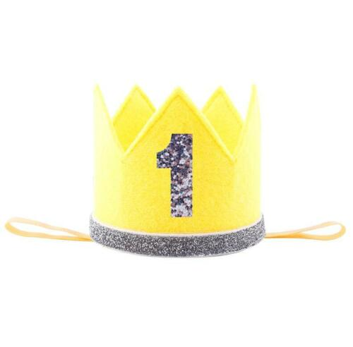 Baby Girl Boy Kids Half 1//2 First Second Third Birthday Crown Party Headband