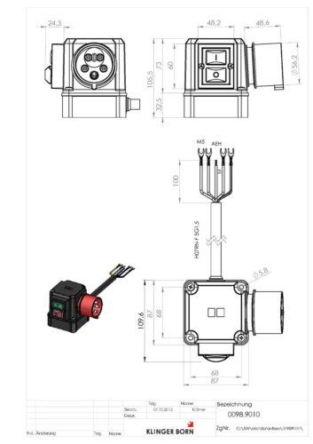 Starter Schalter 3Ph-400V//4kW Unterspannungsauslösung 0098.9010