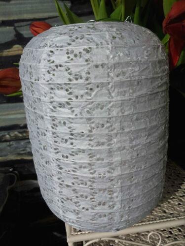 Lochmuster Lampenschirm Oval Japankugel Papier 28x19 Papierlampe Papierleuchte
