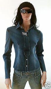 Wow Stretch Fornarina Jeans Rhinestone Cowgirl Shirt Jakke Blouse D Blizzy IqZwrInF