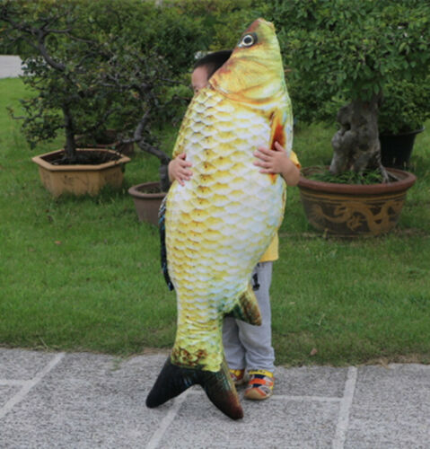 Toy 20-60cm Cushion Long Funny 3D Carp Fish Gift Fishing Fish Shaped Pillow